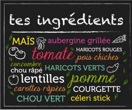 Tes ingrédients