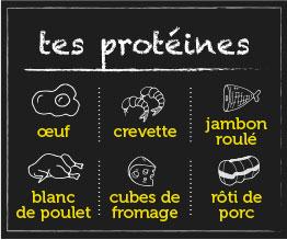 Tes protéines