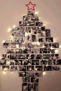 Sapin Graphique avec des photos en noir et blanc