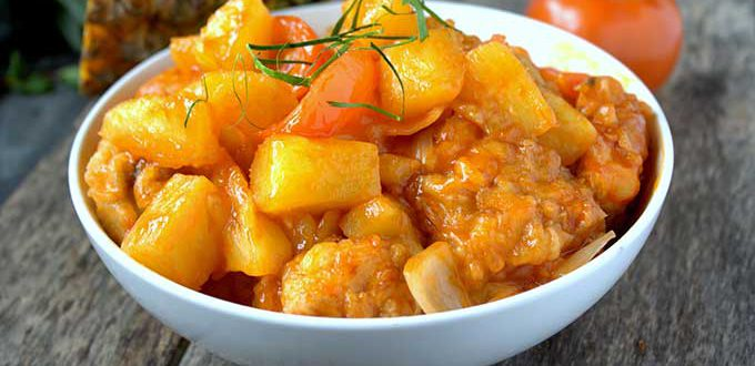 Poulet aigre douce ananas