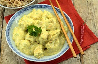 porc au curry et gingembre