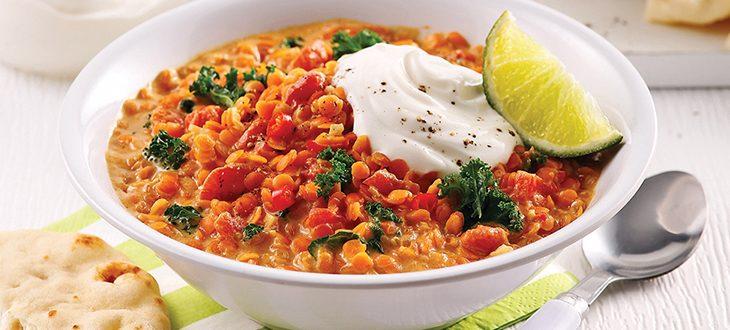 Curry de lentilles rouges au lait de coco ecomil